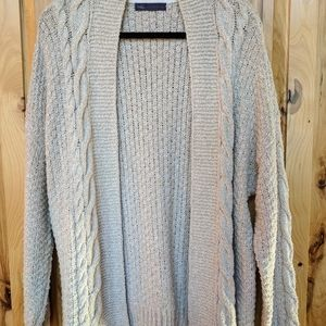 VGUC M&S Oatmeal Color Open Cardigan Sweater